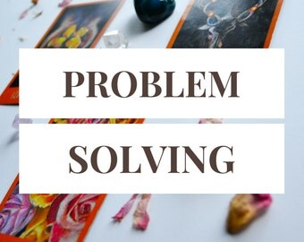 Problem Resolution Reading -- 3 Card Tarot Reading -- Problem Solving -- Photo of Spread Included