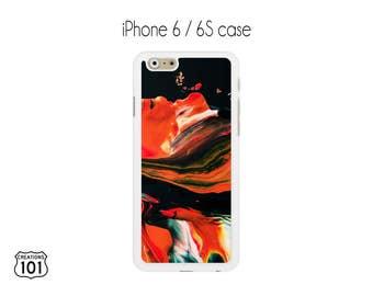 Marble iPhone Case, iPhone 6/6S Case, Orange iPhone Case, Black iPhone 6 Case, iPhone 6S Case, IPC1025