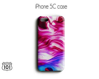 Marble iPhone Case, Plastic iPhone Case, Pink iPhone Case, Purple iPhone Case, IPC1023