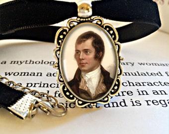 Robbie Burns Choker Necklace - Robert Burns Jewellery, Burns Night Gift, Auld Lang Syne Gift, Burns Supper Jewelry, New Years Eve Choker