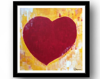Abundant Heart, Gallery Art Print -- Ready to Frame, Perfect Gift, Anniversary, Wedding, Valentine's Day, Love, Buy 3 hearts and get 1 free!