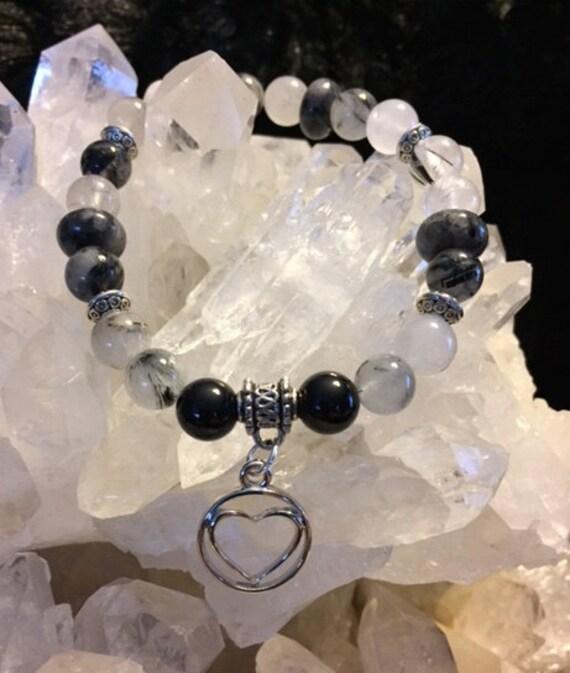 Tourmilated Quartz Charm Bracelet
