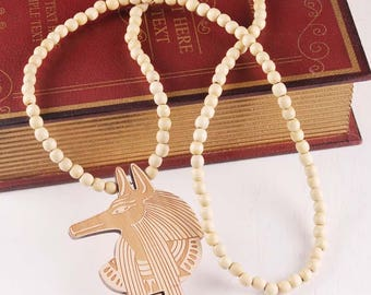 Anubis/Anpu  Wooden Necklace 4 Colors