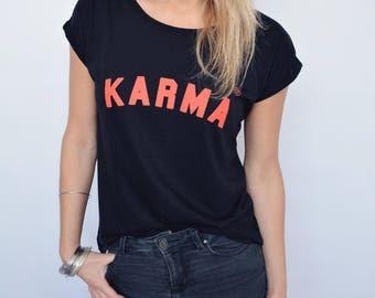 Karma-Rolled off shirt black