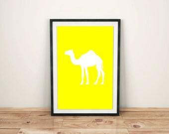 Animal Print Nursery Animal Print Nursery Décor Nursery Print Nursery Art Zoo Animals Camel Print Camel Art Print Safari Animals