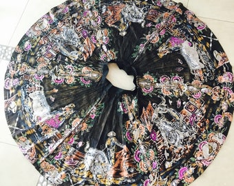 SALE!!!! Stunning 1950's Mexican Circle Skirt Sequins