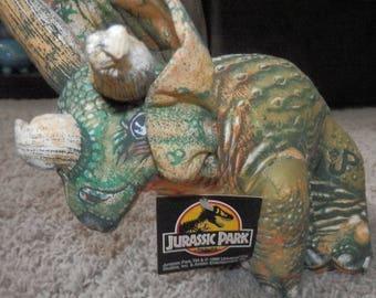jurassic park 1992 universal studios plush dinosaur triceratops