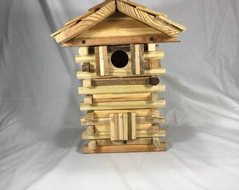 Made to Order/Wood Bird House/reclaimed wood/birdhouse/yard decor/rustic log birdhouse/cabin bird house/fathers day gift/mothers day gift