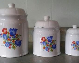 Stoneware canister set
