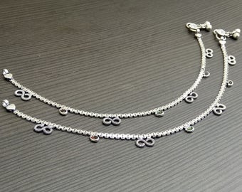 Barefoot anklets | Indian jewelry payal | Anklets gift jewelry | Silver plated anklets | Ethnic wear anklets | Indian fashion anklet | A112