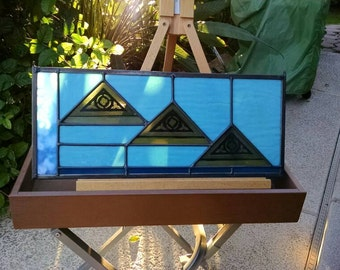 Pharaoh's Dream - Egyptian Stained Glass Window Panel