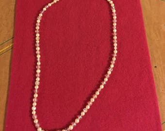 Pearl and AB Crystal Necklace
