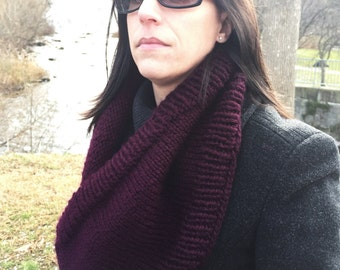 Long Cowl, scarf, soft and warm.  Plumberry