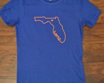 Ladies Florida Home shirt Royal blue and Orange Gators