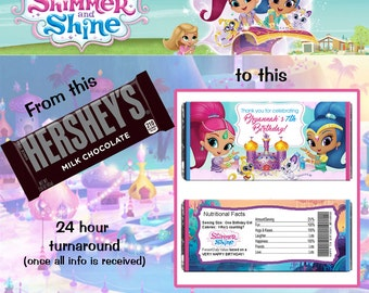 Shimmer and Shine Hershey Wrapper File
