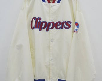 SAN DIEGO CLIPPERS Jacket Vintage 90's San Diego Clippers Majestic Buttons Down Sweater Jacket Size 4XL