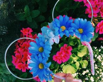 Make it Pink, Make it Blue REVERSIBLE Floral Ears!
