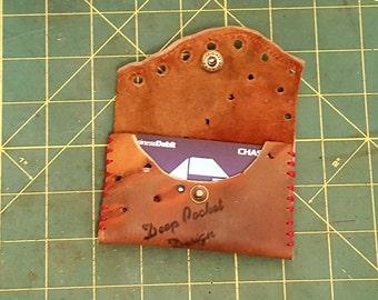 Leather Baseball Glove Wallet : Game Used, Handmade