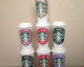 Custom design starbuck cups for all occasions