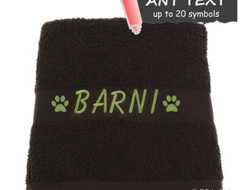 Personalised pet towel for cat or dog
