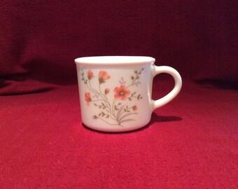 Pyrex Emily Spring Garden Coffee Mugs circa 1980