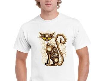Steampunk Clockwork Cat T Shirt by Ameiva Apparel