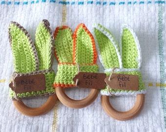 Dentition in crochet toy: rabbit ears