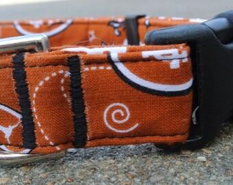 UT Longhorn Burnt Orange Bandanna Print