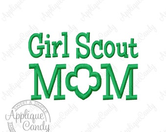 Girl Scout Mom 2 Machine Embroidery Design 3x3 4x4 5x7 6x10 INSTANT DOWNLOAD