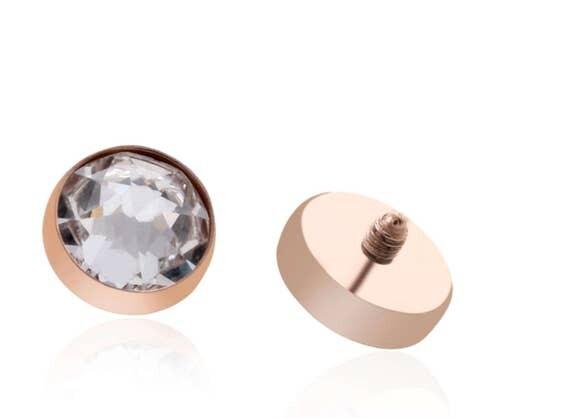 Dermal Body Piercing Jewellery 18kt Rose Gold Titanium Free
