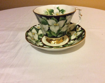 Royal Albert White Flower Bone China Teacup and Saucer Made in England