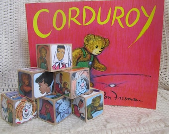 Corduroy Gift Set- includes Book and Set of 6 Wooden Blocks
