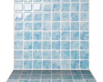 tic tac tiles high quality mosaic peel and stick wall tile in vetro aqua