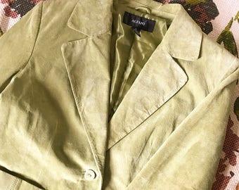Alfani Green Suede Jacket- Medium