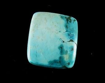 Natural Tibetan Turquoise Rectangle Cabochon Jewelry Making Loose Gemstone Cabochon Gemstone Semi Precious Stones 19Cts 19X22X4.5 mm B-0715