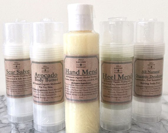Heel Mend - Organic Moisturizing Balm for dry, cracked heels and feet.