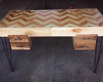 Desks Metal Legs, Desks Hairpin Legs, Wood Desks Office, Reclaimed Wood Desk, Reclaimed Study Desk, Salvaged Wood Desks, Desk's with Drawers