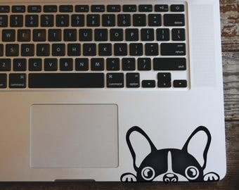 Peeking Dog vinyl decal sticker