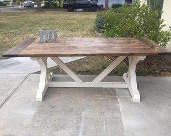 7ft X Farmhouse Table (Local Pick up/Delivery Only!)