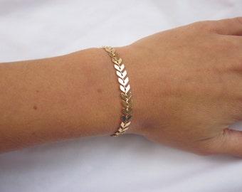 Chevron Bracelet, Gold Bracelet, Rose Gold Bracelet, Silver Bracelet, Delicate Bracelet, Layering Bracelet, Gold Chain Bracelet
