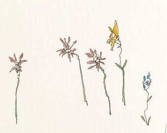 Original Painting- Plants Postcard