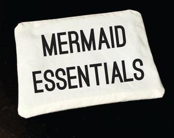 Mermaid Essentials Makeup Bag, Cosmetic Bag, Toiletry Bag
