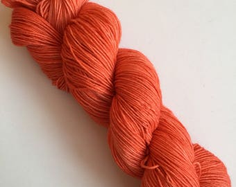 Tangelo Semi-Solid Hand Dyed Sock Yarn 100g DYED TO ORDER