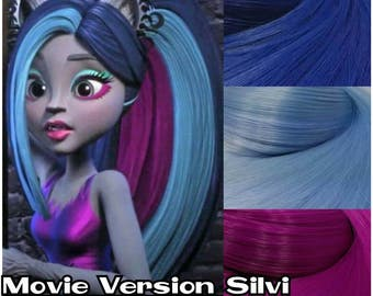 "Monster High Silvi Timberwolf ""non"" Electrified Movie Version Re-root Pack Nylon Hair Kit to make your own OOAK Doll INTL SHIP"