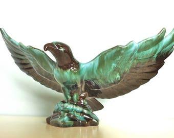 Blue Mountain Pottery Eagle/Large Ceramic Eagle/Ceramic Bird/Blue Mountain Pottery/Eagle Statue/Eagle Figurine/Large Eagle Figurine/BMP Bird