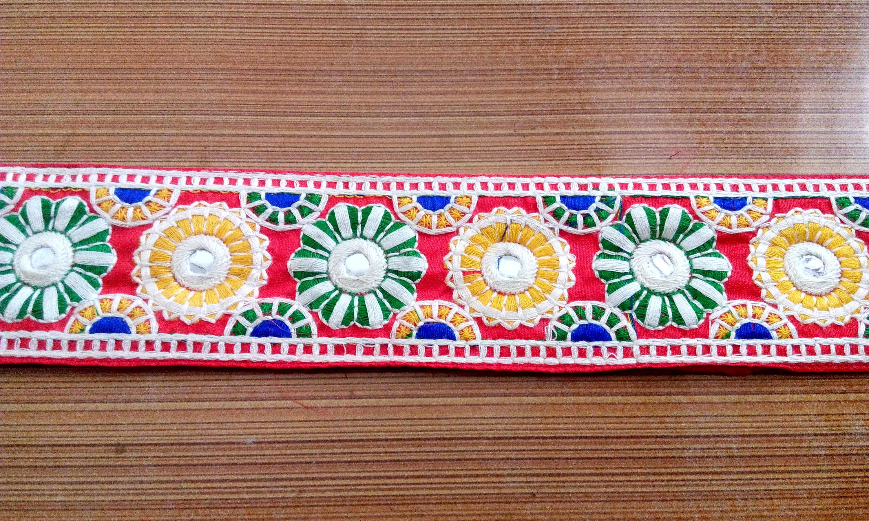 Decorative Fabric Trim Embroidered Ribbon Trim Decorative Trims Sari Border Trim By The