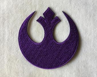 Star Wars Rebels Logo Iron On Patch #Purple