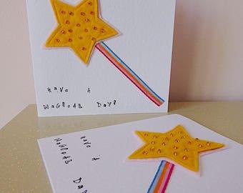 fairy card, princess birthday card, magic wand card, children's birthday card, cheer me up, fairytale card,  girl birthday card, LGBT card