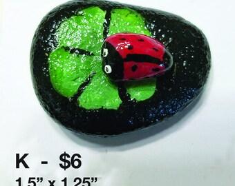 Ladybug on a leaf rocks - 3