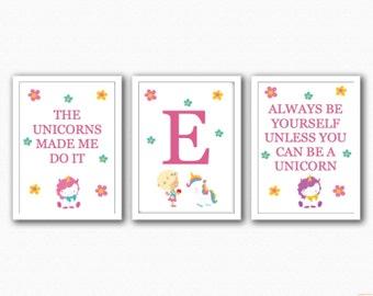 Unicorn Trio Prints